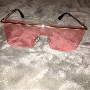 Accessories - BN Trendsetter Pink & Gold Futuristic Sunglasses